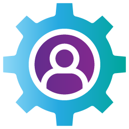 icon of cog for human resources